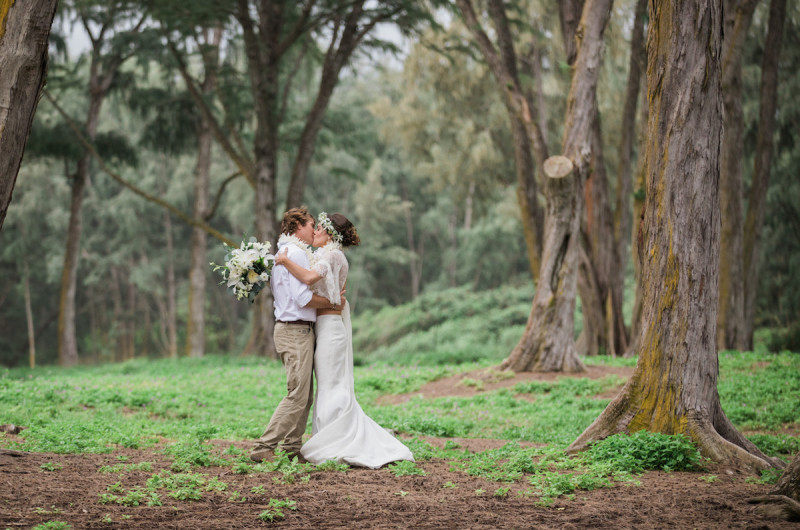 Image for Paige and Judd's Bohemian Hawaiian Forest Elopement