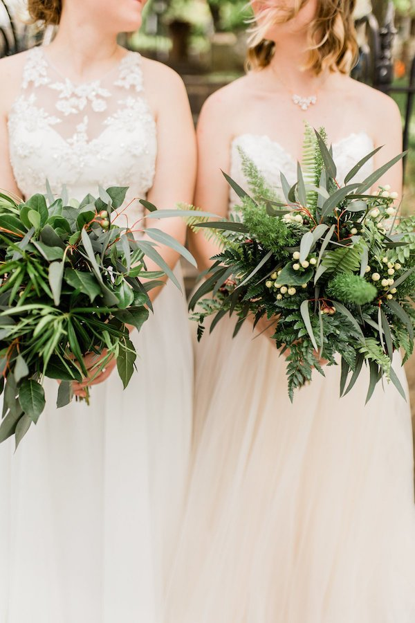 greenery only wedding bouquet
