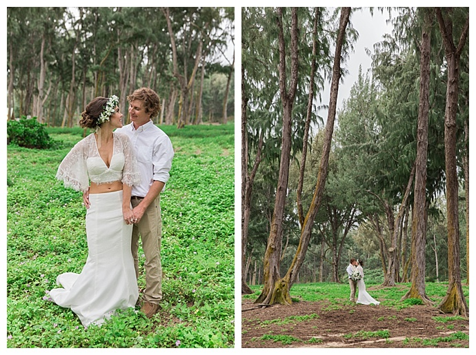 hawaii forest wedding