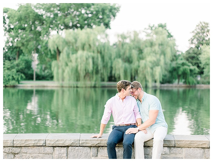 centennial park engagement shoot