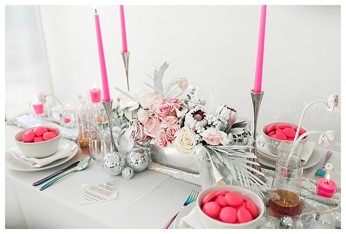 silver and pink wedding inspiration