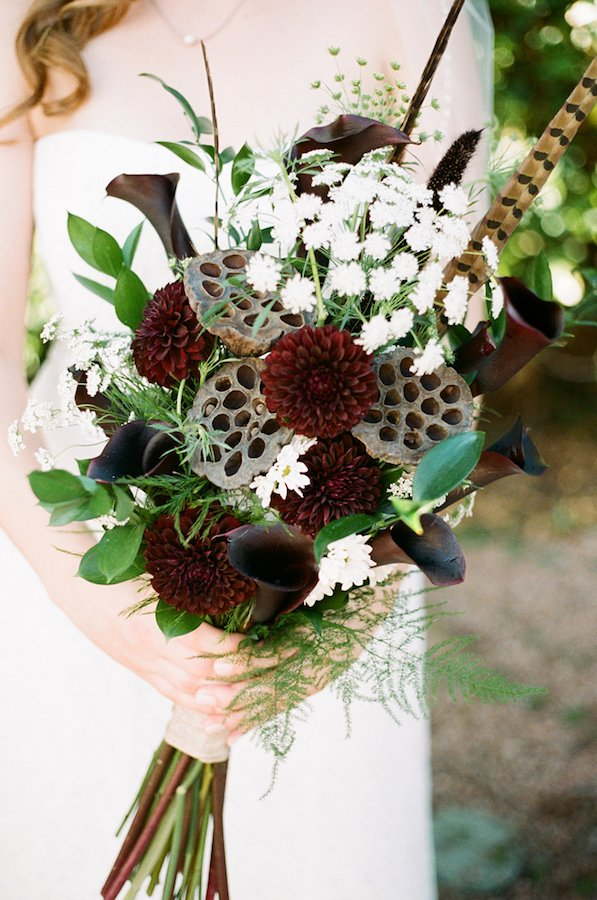 lotus seed pod wedding bouquet