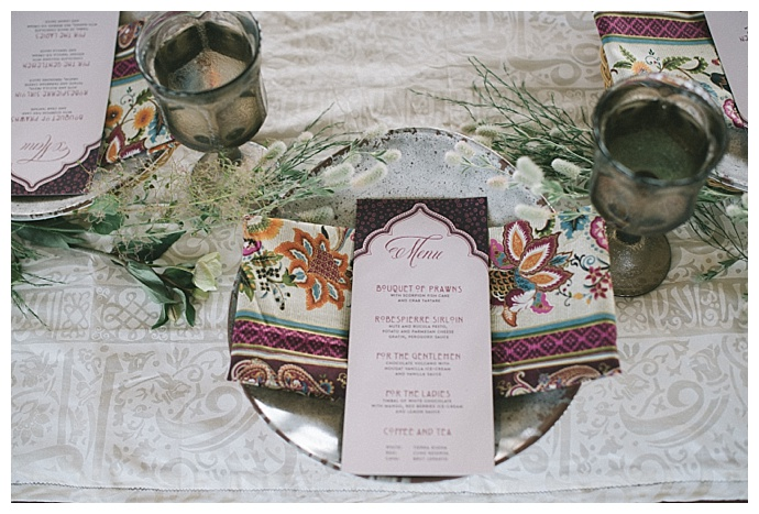 middle eastern wedding menu