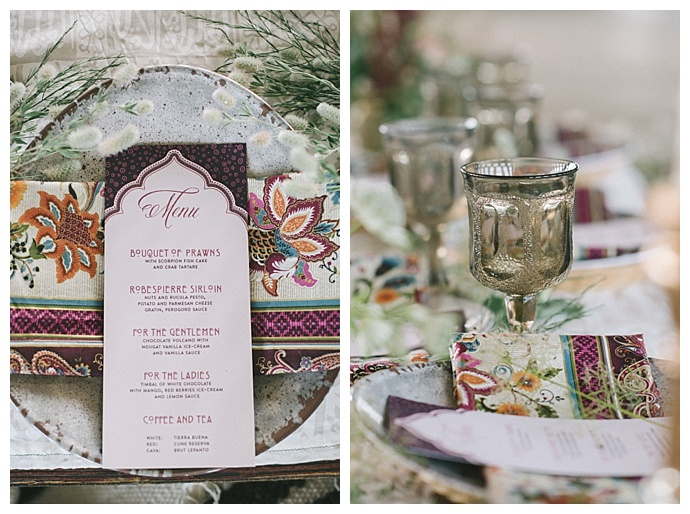 middle eastern wedding table decor