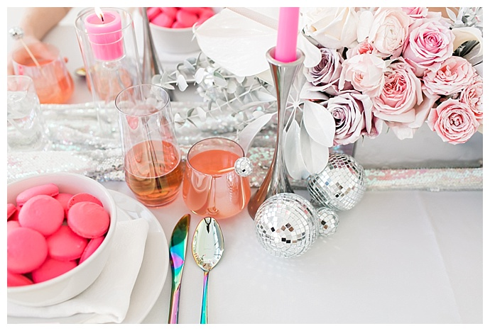 pink disco wedding inspiration
