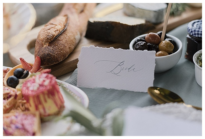 deckle edge wedding place cards