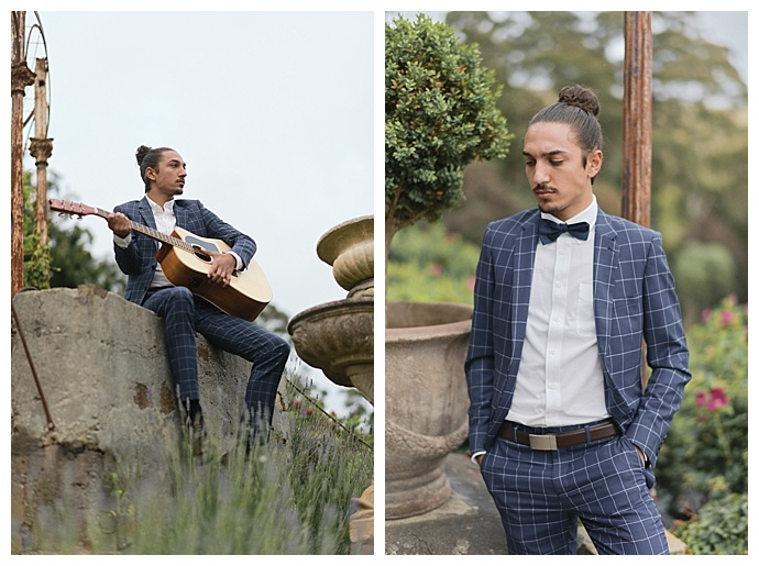 windowpane wedding suit