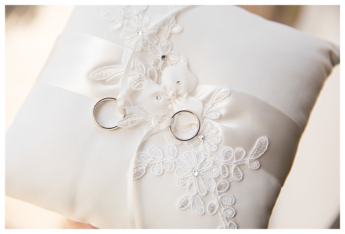 lace ring bearer pillow