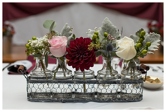 dahlia wedding centerpiece