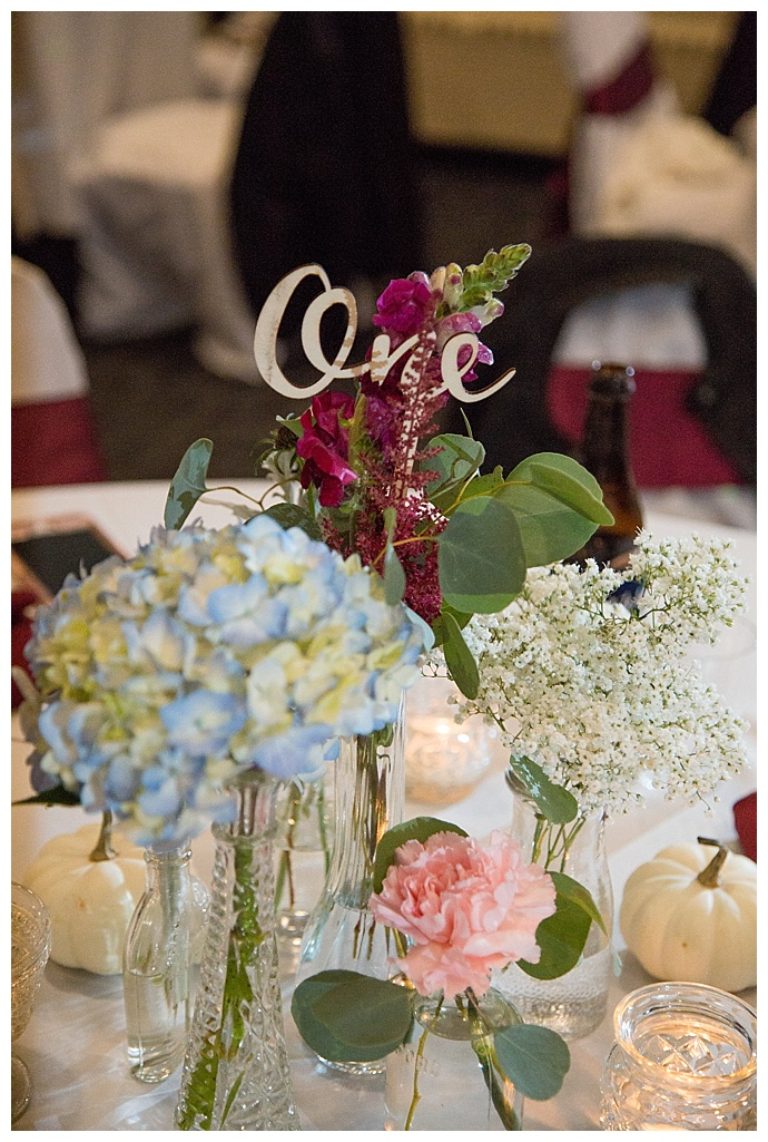 wood wedding table numbers