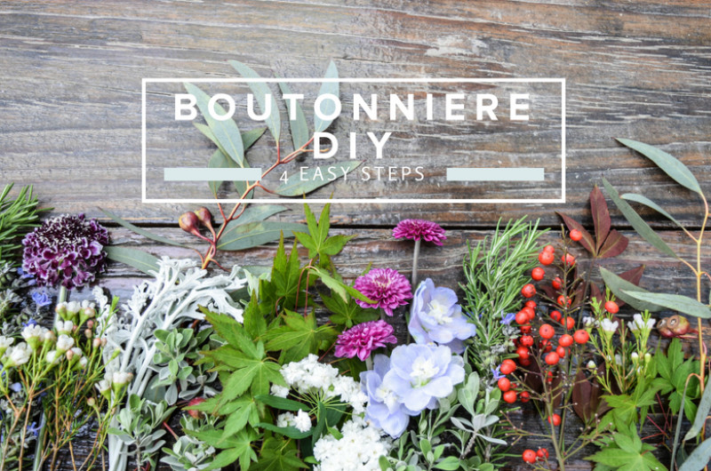 Image for Easy 4-Step DIY Boutonniere with Wildflowers