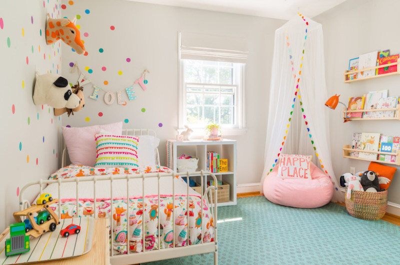 Image for Bright and Bold Toddler Room with Animal Details
