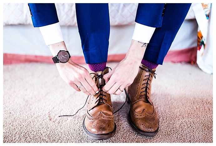 brogue wedding boots