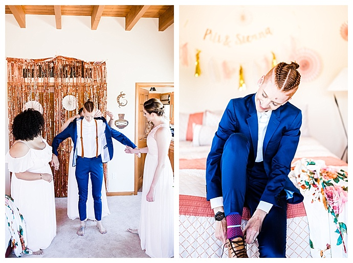 womens blue wedding suit