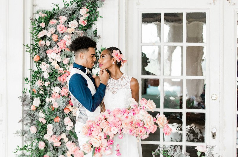 Image for Colorful Flower-Filled Wedding Inspiration at the Belle Isle Boat House