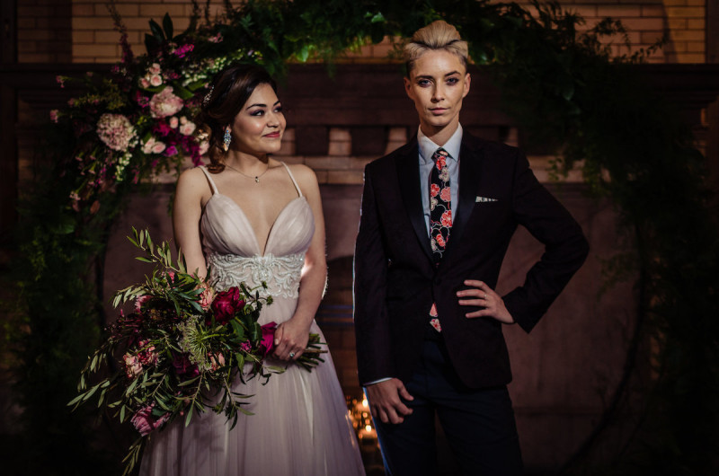 Image for Moody Jewel-Toned Wedding Inspiration Shoot