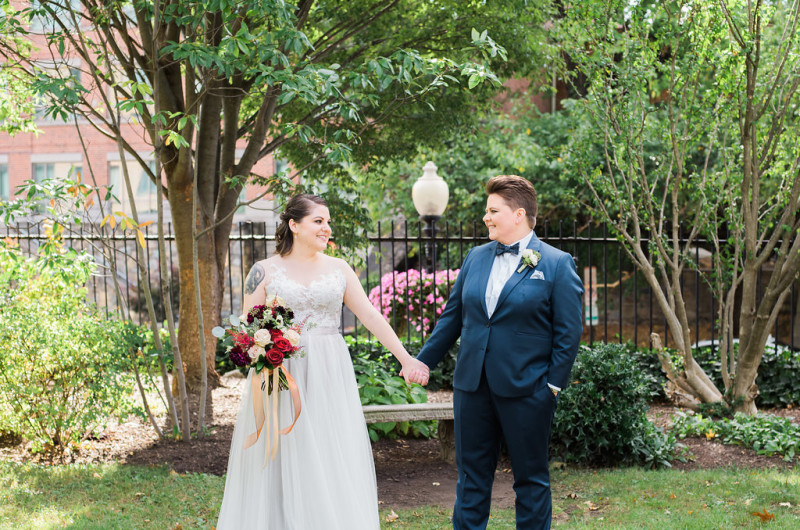 Image for Betsy and Rachel's Navy and Copper Washington D.C. Wedding