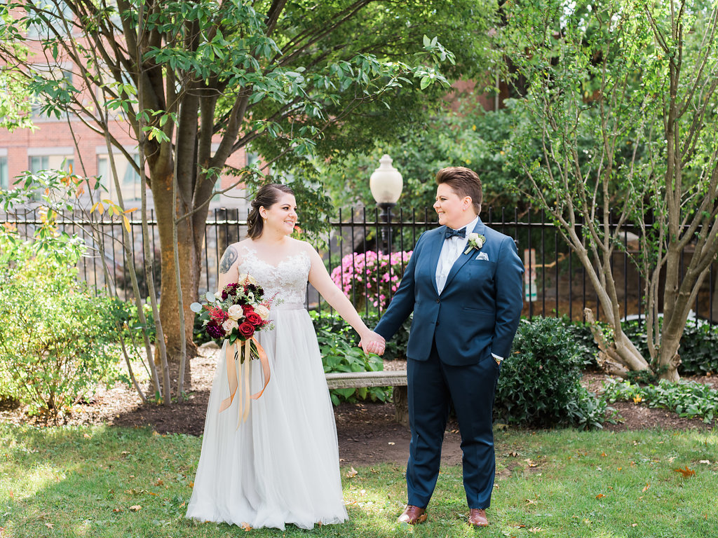 navy and copper dc wedding