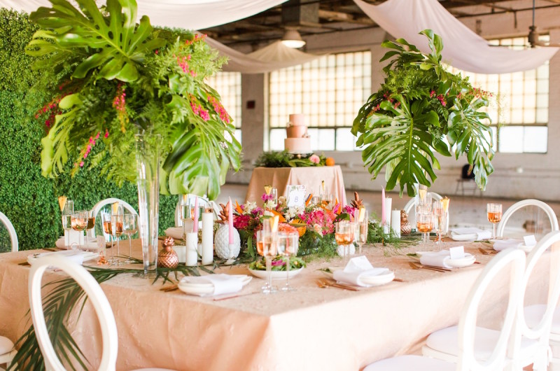 Image for A Colorful Tropical Wedding Inspiration Shoot with Lush Details