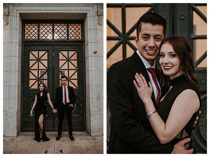 formal engagement pictures