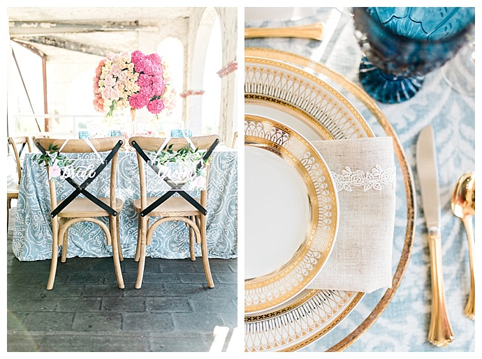 gold-wedding-plates-megan-mcgreevy-photography