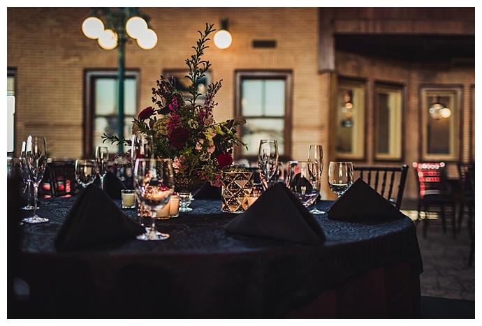 jewel toned wedding decor