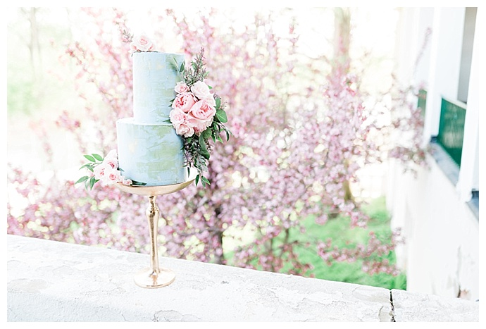 light-blue-wedding-cake-megan-mcgreevy-photography