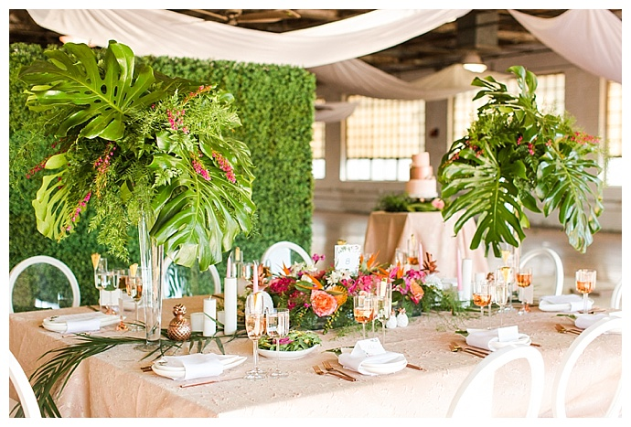 monstera-leaf-wedding-centerpieces-shaina-lee-photography