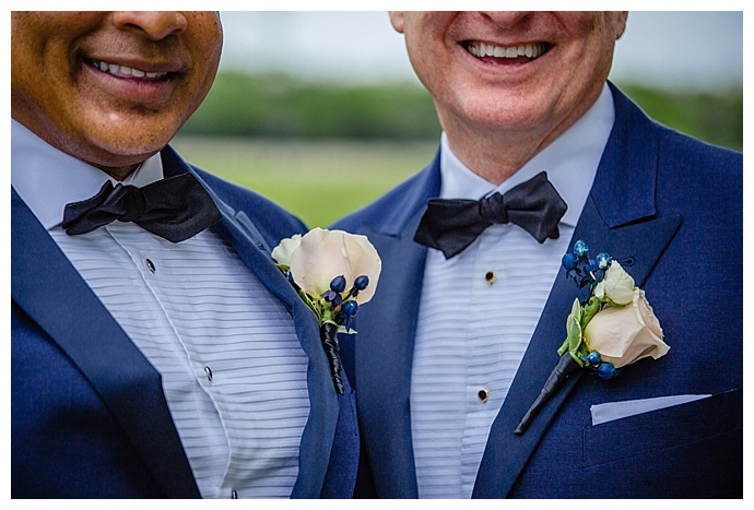 rose and berry boutonniere
