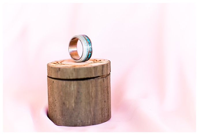 turquoise and copper wedding band