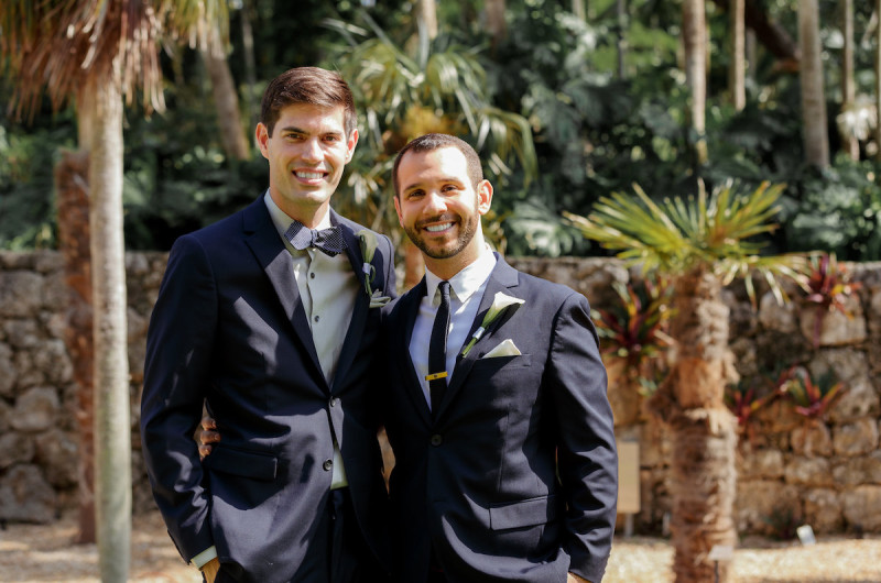 Image for Steven and Timothy's Intimate Botanic Garden Wedding in Miami