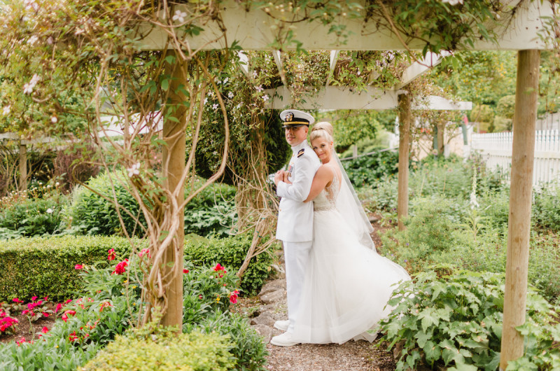 Image for Colin and Devon's Navy Blue and Gold Military Wedding