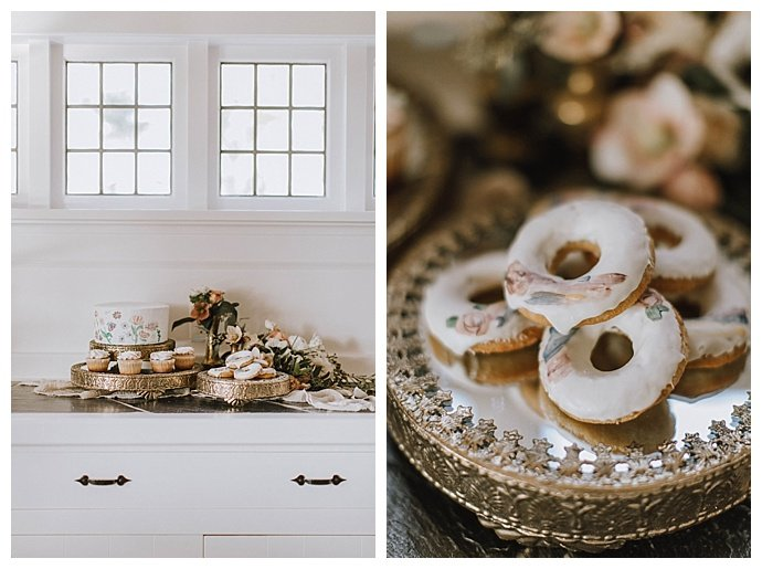 painted wedding donuts