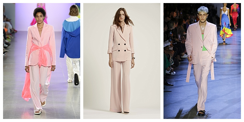 Pink Pastel Suits NYFW Trends