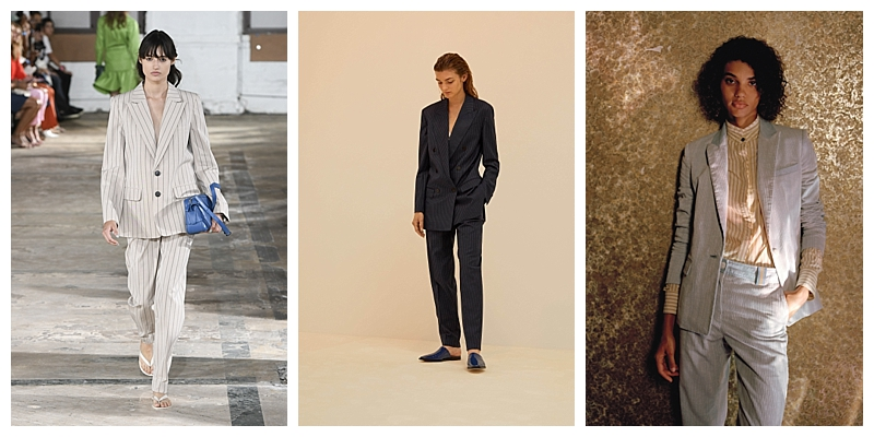 Pinstripe Suits NYFW Trends