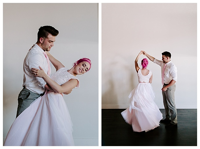 dance inspired styled shoot