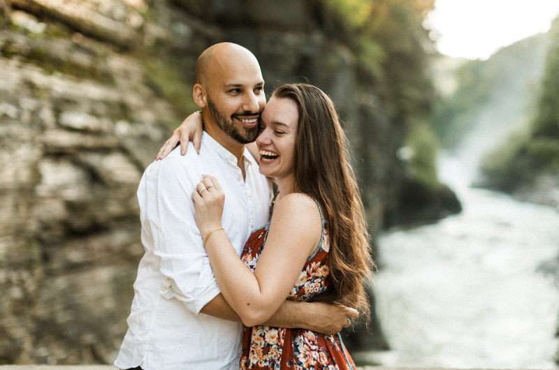 Image for Matt and Mikelle's Waterfall Proposal at Lower Falls Bridge