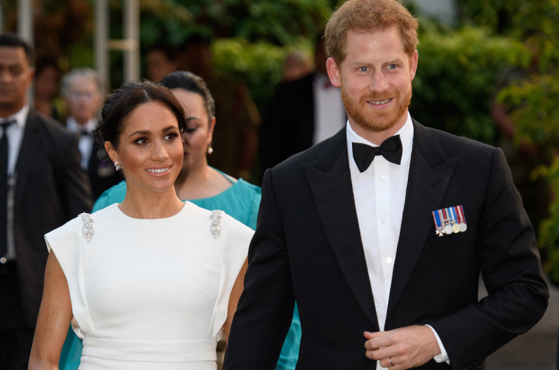 Image for Meghan Markle Stuns in a Custom Theia Gown on Royal Tour