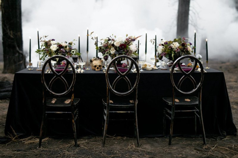 Image for Moody Jewel-Toned Halloween Wedding Inspiration Shoot