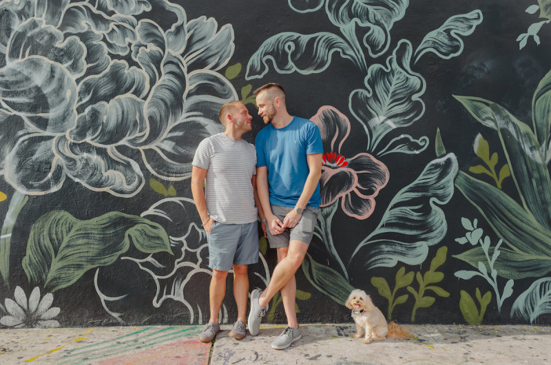 Image for Bret and Ryan's Cheerful Wynwood Walls Engagement Shoot