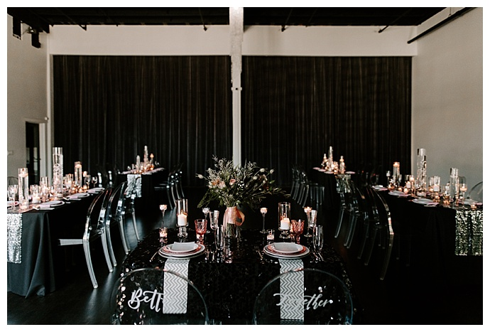 industrial black and pink styled shoot