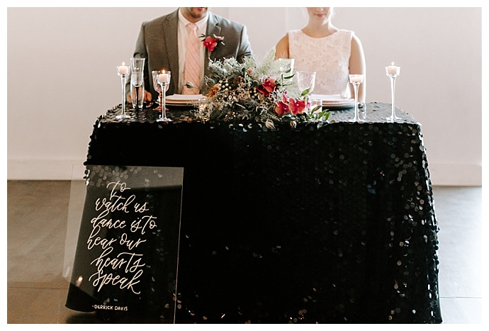black and pink wedding inspiration