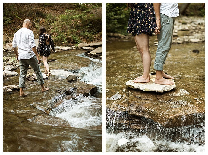 river engagement pictures
