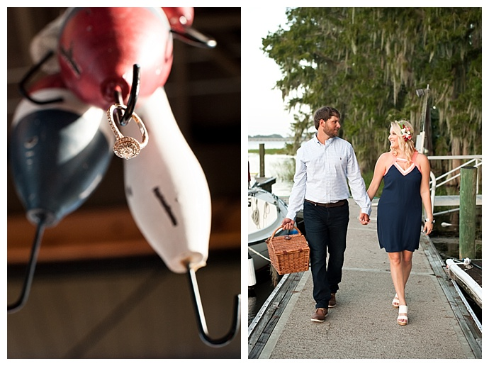 pontoon-picnic-engagement-session-embrace-by-kara