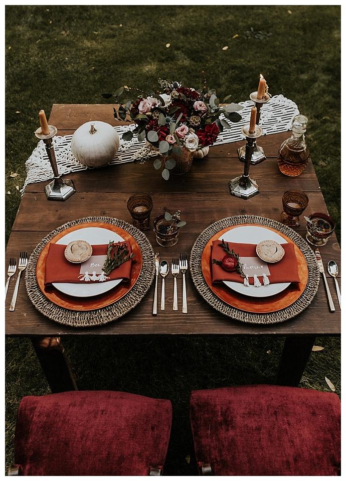 orange boho wedding inspiration