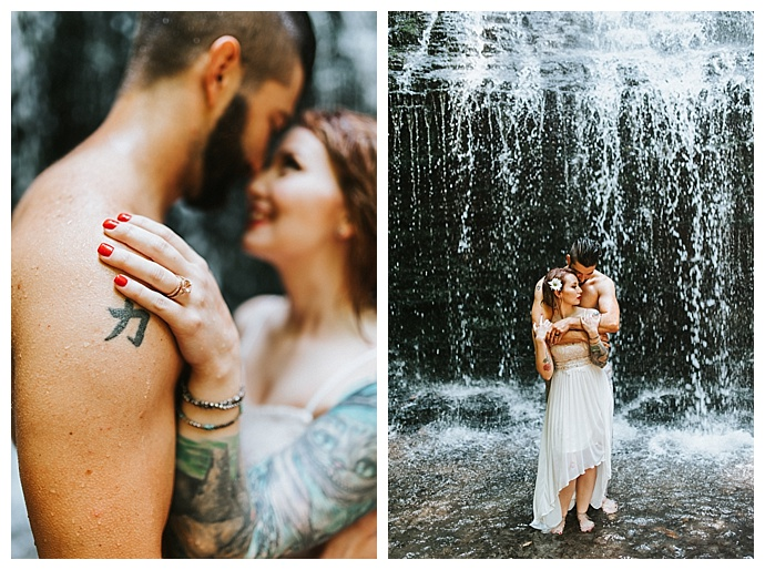 tennessee waterfall elopement