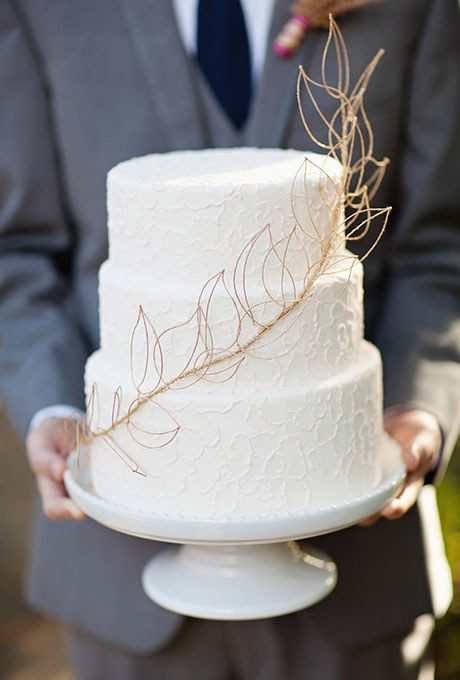 white-fall-wedding-cake-with-gold-leaf-detail