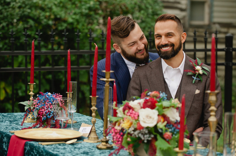 Image for Eclectic Red and Blue Wedding Inspiration in Detroit