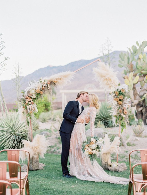 pampas-grass-covered-ceremony-arch