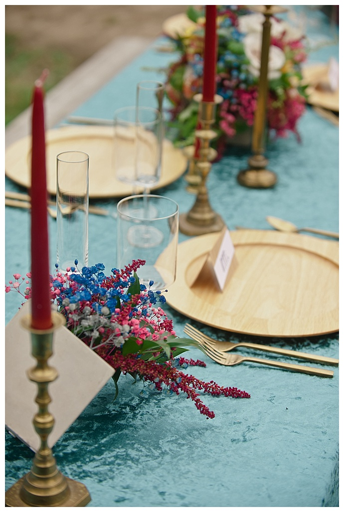 red and blue wedding